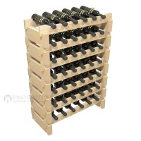 Vino Grotto 42 Bottle Short Scalloped Wine Rack Set - Pine Showcase