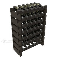 Vino Grotto 42 Bottle Short Scalloped Wine Rack Set - Redwood Ebony-Stain Showcase