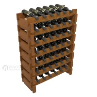 Vino Grotto 42 Bottle Short Scalloped Wine Rack Set - Redwood Oak-Stain Showcase