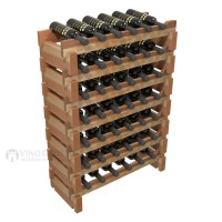 Vino Grotto 42 Bottle Short Scalloped Wine Rack Set - Redwood Showcase