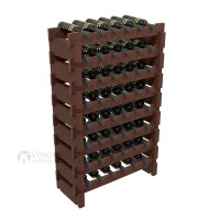 Vino Grotto 48 Bottle Short Scalloped Wine Rack Set - Pine Cherry-Stain Showcase
