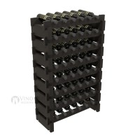 Vino Grotto 48 Bottle Short Scalloped Wine Rack Set - Pine Ebony-Stain Showcase