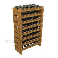 Vino Grotto 48 Bottle Short Scalloped Wine Rack Set - Pine Oak-Stain Showcase