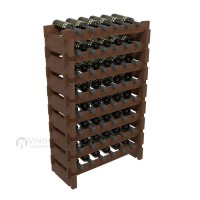 Vino Grotto 48 Bottle Short Scalloped Wine Rack Set - Pine Walnut-Stain Showcase