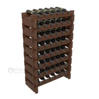 Vino Grotto 48 Bottle Short Scalloped Wine Rack Set - Pine Walnut-Stain Showcase