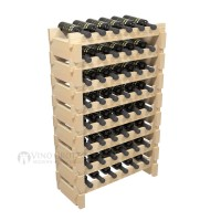 Vino Grotto 48 Bottle Short Scalloped Wine Rack Set - Pine Showcase