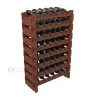 Vino Grotto 48 Bottle Short Scalloped Wine Rack Set - Redwood Cherry-Stain Showcase