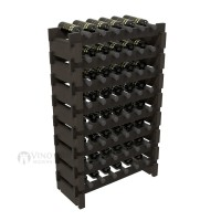Vino Grotto 48 Bottle Short Scalloped Wine Rack Set - Redwood Ebony-Stain Showcase