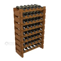 Vino Grotto 48 Bottle Short Scalloped Wine Rack Set - Redwood Oak-Stain Showcase