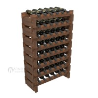 Vino Grotto 48 Bottle Short Scalloped Wine Rack Set - Redwood Walnut-Stain Showcase