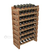 Vino Grotto 48 Bottle Short Scalloped Wine Rack Set - Redwood Showcase