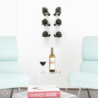 VintageView Vino Rails Designer Kit - 6 Bottles (Anodized Black)