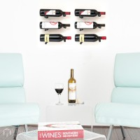 VintageView Vino Pins Designer Kit - 6 Bottles (Anodized Black)