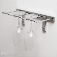 VintageView Stemware Rack - 2 Glasses (Chrome-Plated Showcase)
