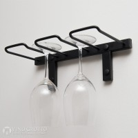 VintageView Stemware Rack - 2 Glasses (Satin-Black Showcase)