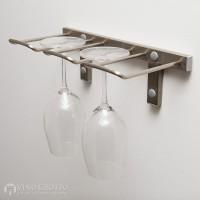 VintageView Stemware Rack - 2 Glasses (Brushed-Nickel Showcase)