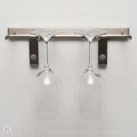 VintageView Stemware Rack - 2 Glasses (Brushed Nickel))