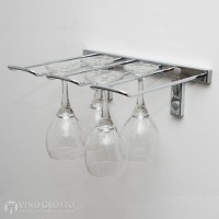 VintageView Stemware Rack - 4 Glasses (Chrome-Plated Showcase)