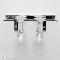 VintageView Stemware Rack - 4 Glasses (Chrome Plated)