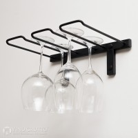 VintageView Stemware Rack - 4 Glasses (Satin Black)