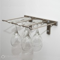 VintageView Stemware Rack - 4 Glasses (Brushed-Nickel Showcase)