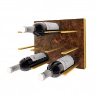 STACT C-Type Wine Rack - Burl & Gold