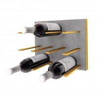 STACT C-Type Wine Rack - Concrete & Gold