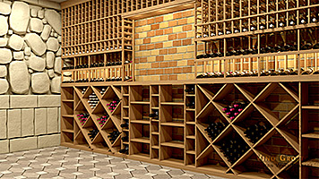 Beautiful Mahogany Wine Cellar