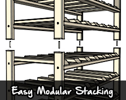 Easy, modular stacking