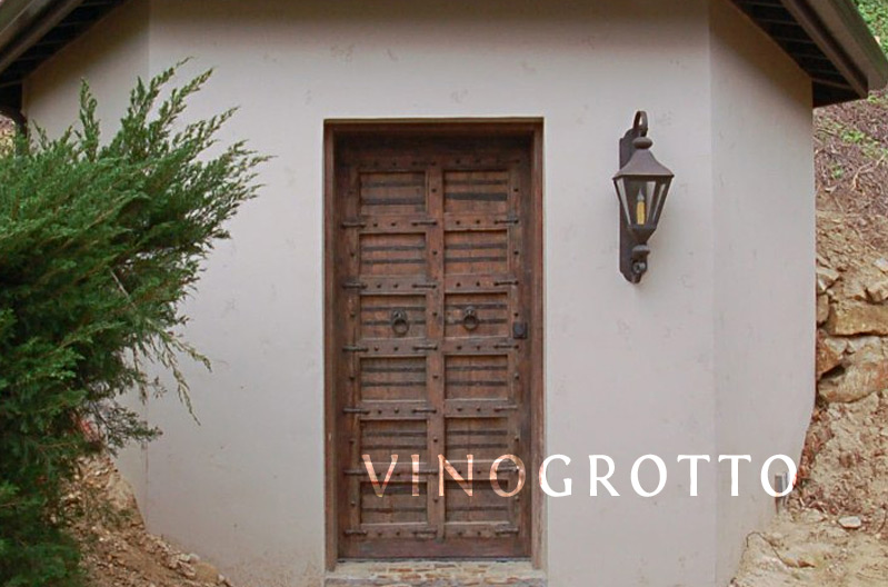 Vino Grotto has experience making glass wrought iron and solid wood doors for wine cellars. & Custom Wine Racks and Wine Cellars from Vino Grotto
