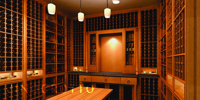 Custom wine cellars by Vino Grotto