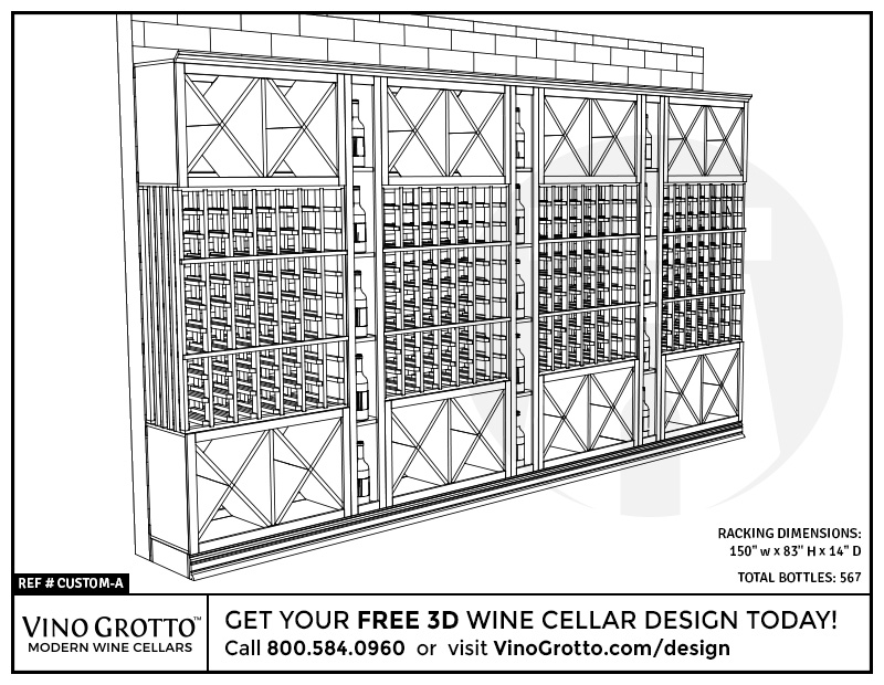 Wine cellar design services by vino grotto free 3d design for Cost to build a wine cellar