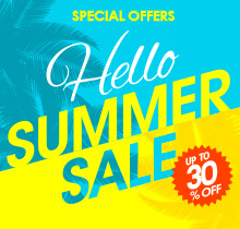 Hello Summer Sale! Save up to 30% + Free Shipping