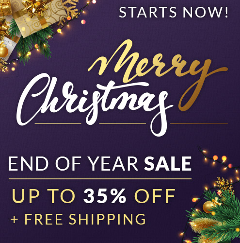 Merry Xmas Sale! Save up to 35% + Free Shipping