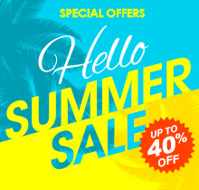 Summer Sale! Save up to 40% + Free Shipping