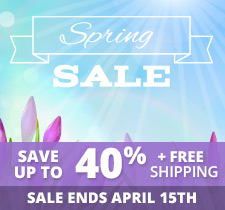 Spring Sale! Save up to 40% + Free Shipping