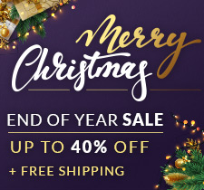 Merry Christmas Sale - Save up to 40% + Free Shipping