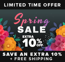 Spring Sale - Save up to 50% + Free Shipping