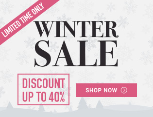 Winter Sale! Save up to 40% + Free Shipping