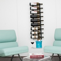 VintageView 9 Bottle Magnum Wall Rack - WS MAG1 - Satin Black