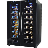 NewAir AW-320ED - 32 Bottle Dual Zone Thermoelectric Wine Cooler