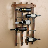 9 Bottle Barrel Stave Wine Rack