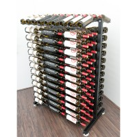 Vintage View 4 Foot - 234 Bottle Island Display Rack