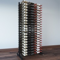 Vintage View 7 Foot - 378 Bottle Island Display Package - IDR7-DLX