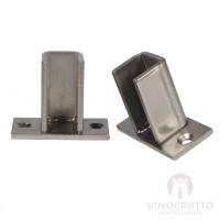 VintageView Floor to Ceiling Mounting Frame Hidden Base Plate - Brushed-Nickel Showcase