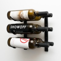 Vintage View WS12 - 6 Bottle Wine Rack - Matte-Black Showcase