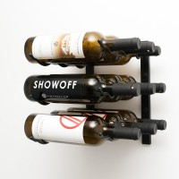 Vintage View WS13 - 9 Bottle Wine Rack - Satin-Black Showcase