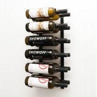 Vintage View WS22 - 12 Bottle Wine Rack - Matte-Black Showcase