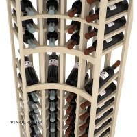 Professional Series - 6 Foot - Curved Corner Display Rack - Pine Detail