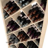 Professional Series - 6 Foot - Solid Diamond Wine Bin - Pine Detail